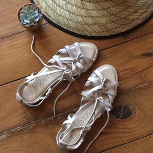 Sole Society lace up sandals